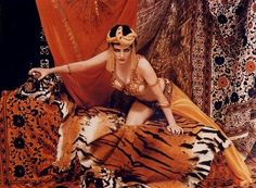 A harem costume worn by Marilyn Monroe for a 1958 photoshoot with Richard Avedon. Avedon dressed Monroe as five of Hollywood's famed leading ladies. In this costume, Monroe dressed as Theda Bara in her role as Cleopatra. It is purported that this was part of Monroe's campaign to play the role of the Egyptian queen in the film Cleopatra that eventually starred Elizabeth Taylor.