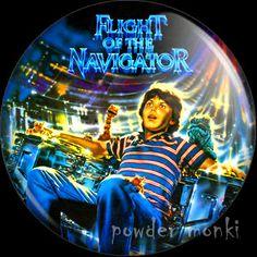 Retro Movie Badge/Magnet - Flight of the Navigator ~ www.powdermonki.co.uk ~ £0.99