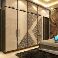Wardrobe Interior Design, Wardrobe Design Bedroom, Bedroom Bed Design, Bedroom Furniture Design, Modern Bedroom Design, Kitchen Wardrobe Design, Pooja Room Door Design, Home Room Design, Sliding Door Wardrobe Designs
