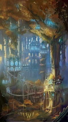 Lothlorien, This needs to exist so I can run away and live my days as an elf there.