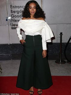 Making up the numbers: Beyonce's sister Solange, who would probably attend the opening of an envelope, looked fabulous