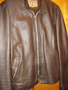 Vintage Men's Leather Motorcycle Jacket- Made in USA