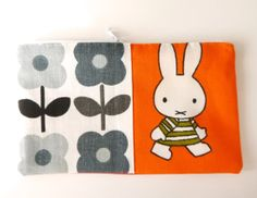 Handmade 70s Fabric Purse / Make up bag by Jane by Janefoster, $19.00