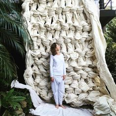 Extreme Knitting is the Best Way to Survive Winter - Yarn Blankets and Art Installations...