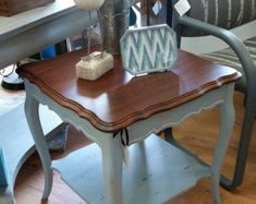 S0LD!!  **  NLA!  **  S0LD!!  *  shabby chic furniture, painted furniture, side tables, coffee table, cocktail table, shabby painted #shabbychicfurniturepainting