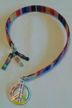 "Handmade Retro Ribbon ""Peace"" Bookmark"