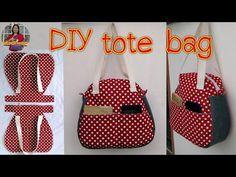Diy tote bag tutorial กระเป๋าสะพายข้าง สอนเย็บกระเป๋าผ้าฟรี อาชีพเสริม รัชนี งานผ้า - YouTube Denim Bag Patterns, Handbag Patterns, Bag Patterns To Sew, Tote Bag With Pockets, Diy Handbag, Handbag Tutorial, Diy Bags Purses, Diy Tote Bag, Fabric Bags
