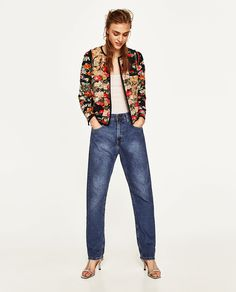 ZARA - WOMAN - GATHERED PATCHWORK JACKET