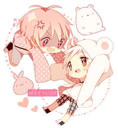 Kawaii anime boys chibis pastel