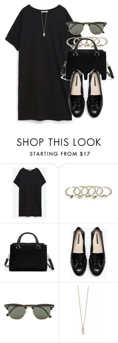"""Style #11002"" by vany-alvarado ❤ liked on Polyvore featuring Zara, Ray-Ban and Zoya"