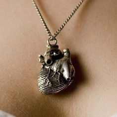 The anatomically correct heart necklace...ADORE this!!