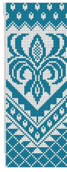 Only the diagram is available - could be adapted for bags, throws, etc. Tapestry Crochet Patterns, Loom Patterns, Beading Patterns, Knitting Charts, Knitting Stitches, Knitting Patterns, Cross Stitch Charts, Cross Stitch Patterns, Fair Isle Chart