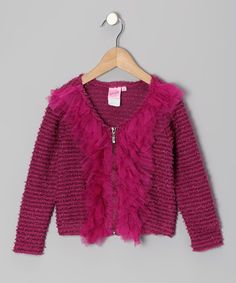 Take a look at this Pink Sequin Sweater Knit Cardigan - Toddler & Girls by Lipstik Girls on #zulily today!