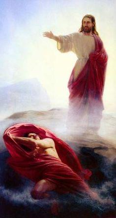 Image result for christ casting out satan