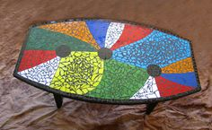 Stained glass mosaic table by Donna Avery  Photo by Ron Avery