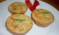 Ovesné muffiny s cottage a zeleninou