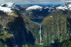 10 Most Amazing Waterfalls Sutherland Falls, New Zealand