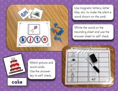 super silent sneaky magic e - word building with self checking for silent e words
