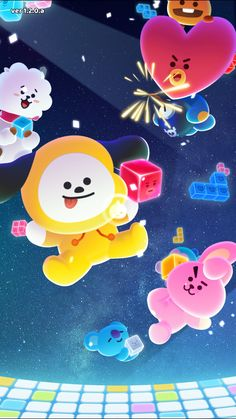 Bts Drawings, Kawaii Drawings, Bts Kawaii, Bts Wallpaper, Iphone Wallpaper, Bts Backgrounds, Line Friends, Bts Chibi, Bts Fans
