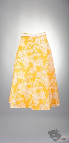 Vintage 70´s midi Flowerpower Skirt