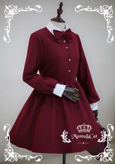 Mumu Vintage Elegant Winter Lolita OP Dress - My Lolita Dress