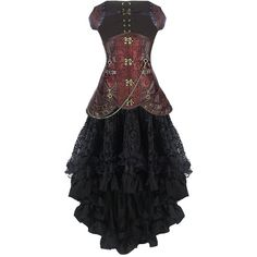 Burvogue Women's Steampunk Costume ($29) ❤ liked on Polyvore featuring costumes, ladies halloween costumes, steam punk costume, steampunk lady costume, ladies costumes and womens halloween costumes