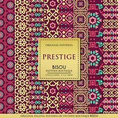 Digital paper pack : Prestige, luxury digital paper, burgundy and gold, oriental digital paper, elegant patterns, gold wedding, boho