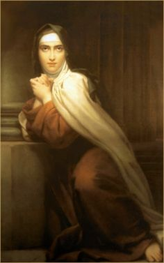 St. Teresa is one of my favorite saints! Her relationship with God was so beautiful.....