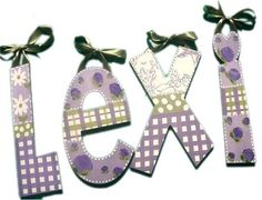 Lexi Lavender Patterns Hand Painted Wall Letters