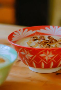 Recipe for roasted cauliflower soup with balsamic-glazed shallots topped with smoked olive oil.