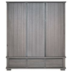 kidsmill malmo smoked grey wardrobe with 3 drawers and 3 doors 107800 baby nursery furniture kidsmill malmo white