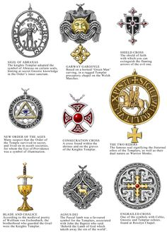 "Knights Templar: #Knights ""#Templar Jewellery Designs Sheet 1,"" by dashinvaine, at deviantART."