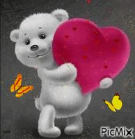 Shared by Find images and videos on We Heart It - the app to get lost in what you love. Animated Heart, Animated Love Images, Heart Gif, Love Heart, Bisous Gif, Love You Gif, Teddy Bear Pictures, Beautiful Gif, Jolie Photo