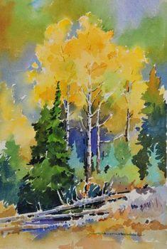 Autumn Clutter at Prairie de la Vache, Jasper by Gregg Johnson #watercolorarts