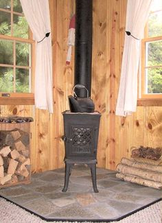 simple woodstove and pad