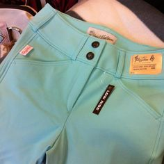 3960 Tailored Sportsman Girls Low Rise, Front Zip Trophy Hunters- Aqua from Dapple Gray in Collingwood, Ontario, Canada Riding Breeches, Riding Pants, Riding Gear, Horse Riding, Riding Habit, Equestrian Chic, Equestrian Outfits, Equestrian Fashion, Tailored Sportsman