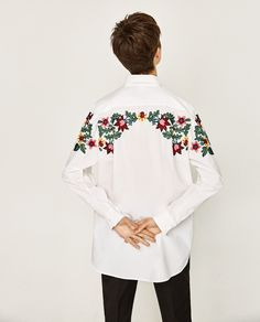 OVERSIZED FLORAL SHIRT-View All-TOPS-WOMAN-COLLECTION SS/17   ZARA United States