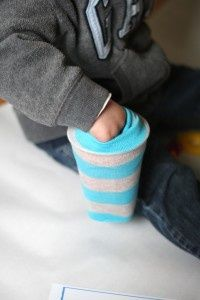 BRILLIANT! Teacher trick: Stick a cup inside the foot of a sock and have students reach inside to pull out alphabet letters, coins or any other manipulative they're using. Makes ordinary learning activities so much more fun.