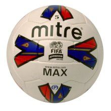 Mitre Max Football Professional quality matchball engineered to exacting Mitre standards. Maximum performance from balanced linings and exclusive MAXLOC bladder system. http://www.comparestoreprices.co.uk/football-equipment/mitre-max-football.asp