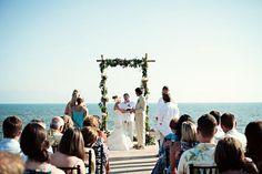 Seaside wedding ceremony in Puerto Vallarta, Mexico | photo by Jillian Mitchell