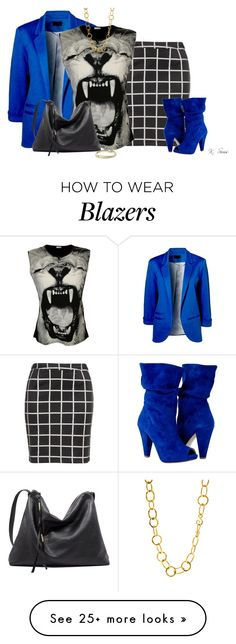 """""""Blue is my favors color"""" by ksims-1 on Polyvore featuring Zizzi, WearAll, David Yurman and Stephanie Kantis"""