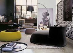 Ottomans: Ottoman Fat-Fat by B&B Italia Sofa Couch, Ottoman Sofa, Living Comedor, Contemporary Chairs, Contemporary Interior, Contract Furniture, Sofa Design, Room Furniture Design, Cool Furniture