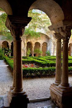 Garden Courtyard at Van Gogh's Asylum - St. Remy, France