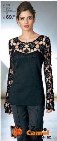Cami + crochet motifs + a little sewing = awesome idea!? How inspiring!