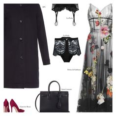 """""""Untitled #3055"""" by amberelb ❤ liked on Polyvore featuring Dolce&Gabbana, Gianvito Rossi, La Perla, Yves Saint Laurent and A.P.C."""