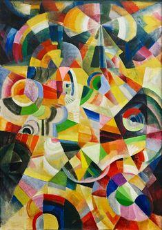 The Kunstmuseum Bern is devoting an exhibition to Johannes Itten in when the Bauhaus is celebrating its … Wassily Kandinsky, Abstract Expressionism, Abstract Art, Abstract Paintings, Oil Paintings, Painting Art, Landscape Paintings, Art Dégénéré, Johannes Itten