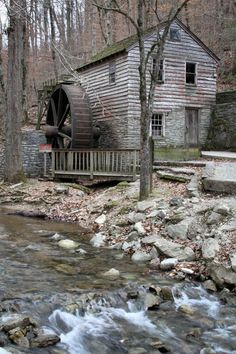 Grist Mill at Norris Dam State Park in Norris, Tennessee ~ This is an 18th century mill that is still in use today!