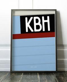 KBH - Hjemhavn Plakat  Dansk fiskekutter plakat poster grafisk design danmark