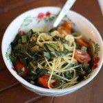 Spaghetti with Garlicky Greens and Tomatoes recipe3