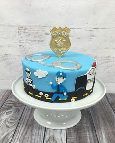 Image result for cops and robbers cake ideas